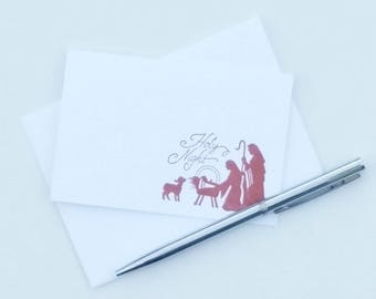 Holy Night Cards - Holy Night Advent Gift Pack - Nativity Scene Cards - Religious Christmas Cards - Christmas Card Greetings Set