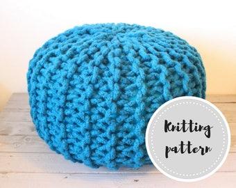 Wool rope pouf PDF pattern