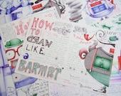 NEW Zine 'How To Draw Like A Barmpot' tutorial(ish) zine by Andrea Joseph