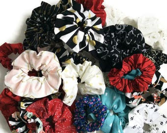 Mom and me hair scrunchies, holidays Christmas scrunchies, child scrunchy, adult scrunchy, women girl toddler scrunchies, stocking stuffers