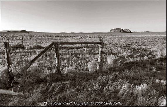 FORT ROCK VISTA, Oregon Outback, Clyde Keller photo, 2007