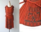 Myth of Wapiti dress | beaded 1920s dress | silk 20s dress