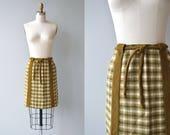 Seburg Plaid skirt | vintage 1960s mini skirt | plaid wool 60s skirt