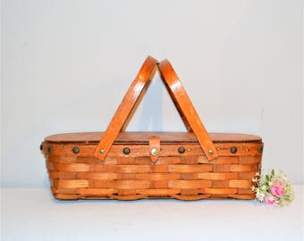 Vintage Basket Purse 1950's