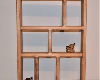 Vintage Wood Cubby / Wall Shelf / Organizer / Display