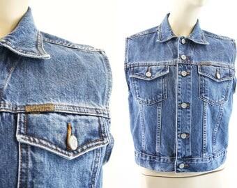 Calvin Klein Jeans / Vintage / 90's / Cotton / Woman's / Denim / Vest