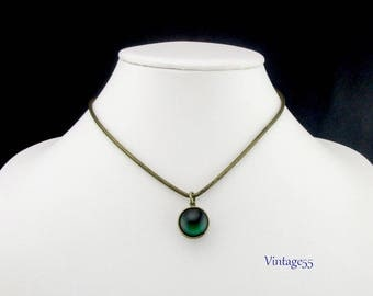 Mystical Orb Pendant Necklace two sided 1970
