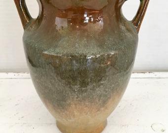 Art Deco Art Pottery Multi-glazed Two Handled Deco Vase