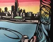 Chicago Sunset - reserved for Ana Lisa