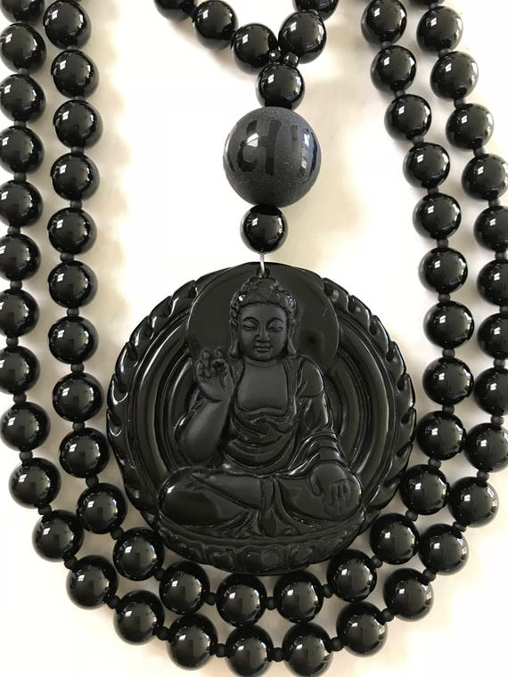 Onyx and Obsidian Mala/Prayer Beads