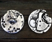 Steampunk Watch Gear Pewter Shank Buttons | Steam Punk Buttons | Vintage Button | Metal Button | 1 Inch (25 mm) | by Treasure Cast Pewter