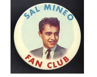 Orig. Vintage 1950s Teen Idol SAL MINEO Fan Club Pin