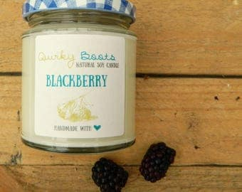 blackberry scented soy wax candle - handmade - handpoured - soy wax - uk - soy candle - new home - hygge