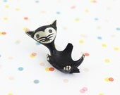 Mid Century Cat Ring Dish / Walter Bosse Egg Cup / Cast Metal Bosse Ring Dish / Vintage Walter Bosse Animal