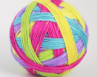 Merry go Round - 5 colour self-striping sock yarn, 100g, 4-ply