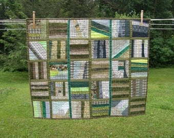 Green Quilted Wall Art