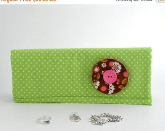 Jewelry Organizer for travel or home. Lined with Anti-Tarnish Fabric. Jewelry Travel Roll, Jewelry Box, Jewelry Protector