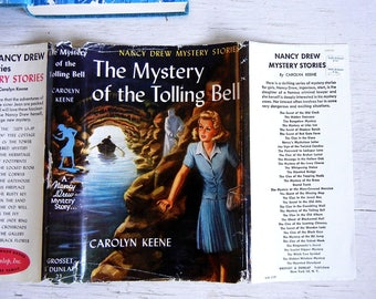 Nancy Drew Mystery of the Tolling Bell #23 | Dust Jacket | 1946 Nancy Drew Book | Mystery | Carolyn Keene