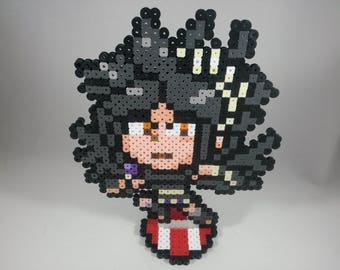 Dark Pit - Kid Icarus - Super Smash Bros Nintendo - Perler Bead Sprite Pixel Art Figure Stand or Lanyard Necklace