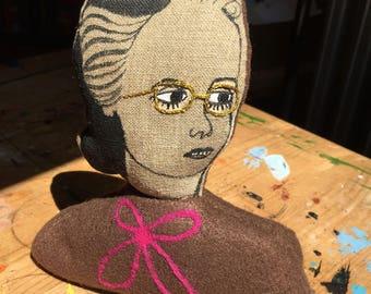 Lillian - weighted soft sculpture bust