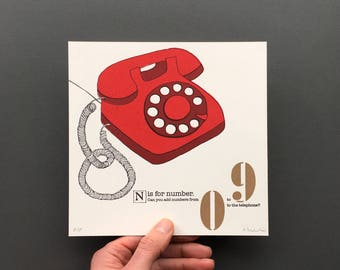 N is for number - Original Artwork from An A to Z Treasure Hunt