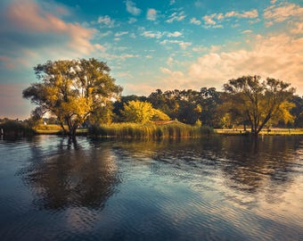 Landscape Photograph of Cass Lake in Waterford Michigan