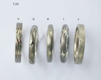 Special Order Mokume Ring size 7.25 and size 7.5