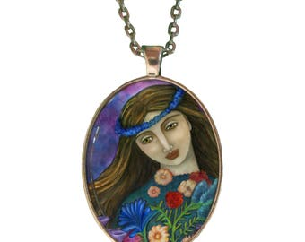 Statement Necklace - Goddess Demeter - Goddess Jewelry - Boho necklace - Greek Goddess - girlfriend gift necklace - Boho - handmade