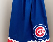 Blue and Red Polka Dot Chicago Cubs pillowcase dress