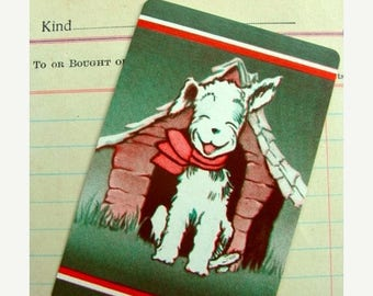 ONSALE Amazing Vintage Puppy Dog Cards for Altered Art