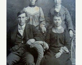 ONSALE Edwardian Haute Family Cabinet Photo so what if He doesn't want to Hold her Hand