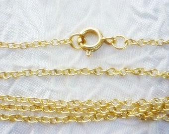 14K gold plated 15 - 18 inch Dainty Necklace