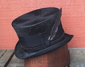 Natural Straw top hat