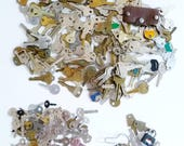 KEYS Craft Lot, Large and Small Keys, Luggage Keys and Locks, Steampunk - Over 3 Lbs