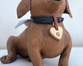 Pet Sculpture Commision of Dachshund by Edrian Thomidis