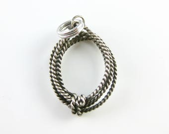 Vintage Sterling Silver Lasso Rope Charm