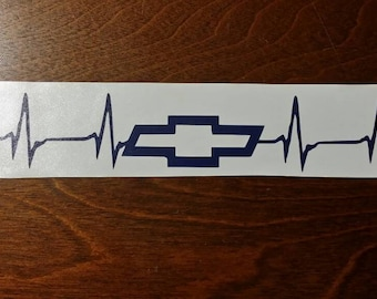 1 Chevrolet Heartbeat Vinyl Decal Car Sticker