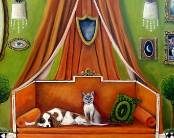 The Decorator's Pets- Original Fine Art Painting