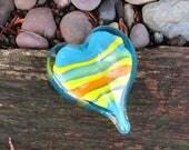 Colorful Striped Aqua Gla...