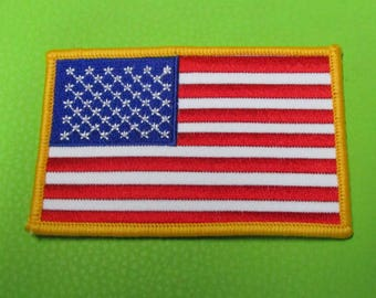 American Flag Sew On Patch FREE SHIPPING Collectible