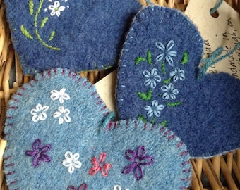 Upcycled Wool Ornaments - OOAK