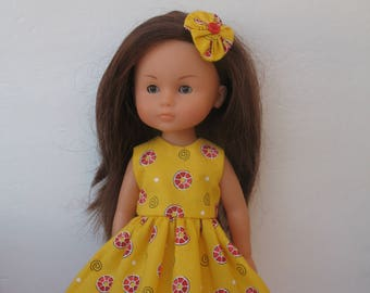 Clothes for Corolle Les Cheries,Paola Reina Doll Dress and Hair Snap