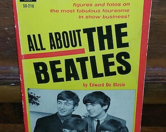 All About The Beatles Vintage Paperback Book