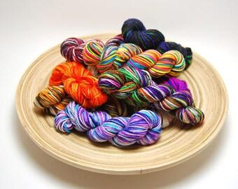 Acoustic Sock Yarn Mini Skein Yarn Kit - 400 Yards - Superwash Merino Nylon