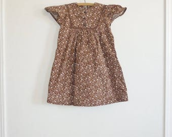 SALE // Vintage Brown Girl's Dress