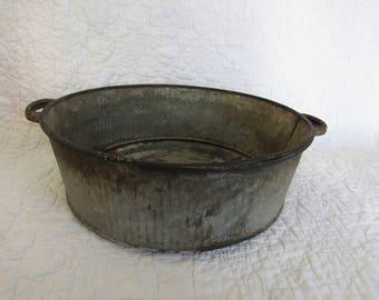 Vintage Wash Bin Metal Large Not Perfect