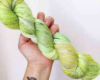 Kiwis - Hand dyed 4ply/sock yarn 100g/400m superwash merino, nylon blend