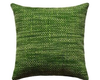 Outdoor STUFFED Throw Pillow, Outdoor Decorative Pillow, Green Deck Pillow, Richloom Remi Palm Outdoor Throw Pillow, Green Cushion Free Shi