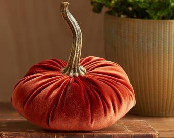 Scented Velvet Pumpkin,  RUST