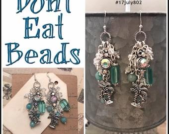 Palm tree earrings #17july802